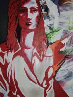 red woman by salvagebymalice