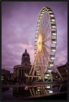 Nottingham ferris wheel II by Wainson