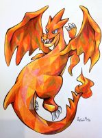 Mega Charizard Y by lightningtrouble