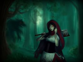 Little red ridding hood by BlackApplee