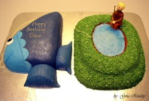 Fishing Cake by ginas-cakes