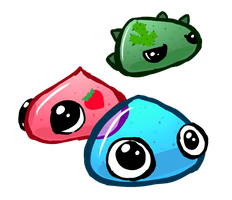 Slimes by LizardBat