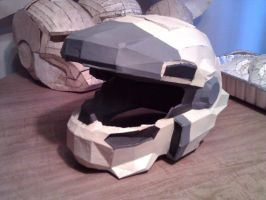 Halo Reach Jorge Helmet Work In Progress by ZombieGrimm