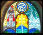 Stained glass of hundred stories by Phoeline