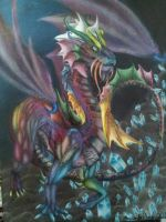 The dragon of thousand colors by Keto-Schneider