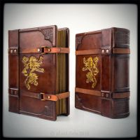 Lions roar - 8 x 10 inches large leather journal by alexlibris999