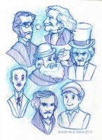 Victorian Men Sketchdump by Stardust-Thief