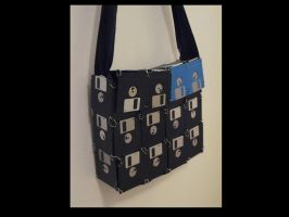 Bag made out of Floppy Discs by wekkity