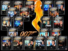 James Bond DVD Case Collection by gandiusz
