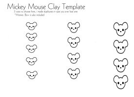 Mickey Mouse Clay template by RainbowDropDreams
