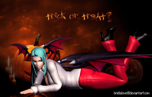 Morrigan Halloween Wallpaper by BriellaLove