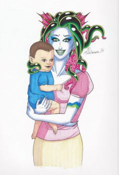 Mommy and baby by XOMBIE-OCTOPUS-QUEEN