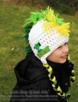 Plants VS. Zombies Patched crochet Hat! by LittleShopOfLostArts
