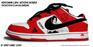 Nike Dunk Low Uchiha Sasuke by DertyHarry