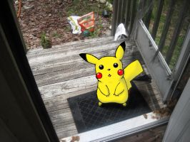 Pikachu On My Porch by DoodleScout