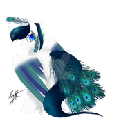 Peacock pony - AUCTION [CLOSED] by BusyBeingClever