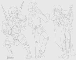 Gundam Force Gijinka sketch by DemandinCompensation