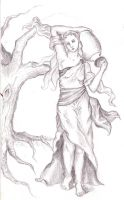 Dryad carrying water-jug by thrombosis-leopard