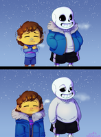 Snowdin weather by C-Puff