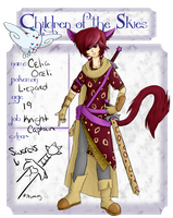 Children of the Sky App-Celia the Liepard by Art3misTheCactus