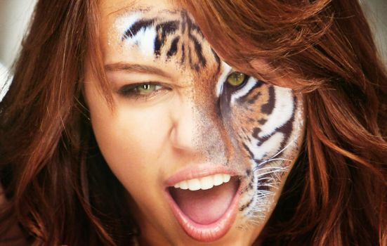 Is a TIGER {Miley Cyrus} by UmiicorniaEditions