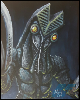 Alien Baltan painting by AlmightyRayzilla