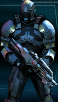 Ex-cerberus sentinel armor (ME:Infiltrator) by Bacurok
