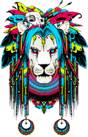 Shaman lion by quidames