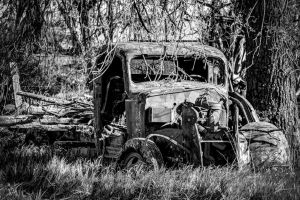 Truck - Rest in the Woods by Daveinwilton