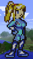 Minecraft Zero Suit Samus by myvideogameworld