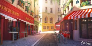 Rue Mouffetard by Tohad
