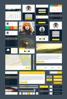 Freebie - Modern Flat PSD Ui Kit by GraphBerry