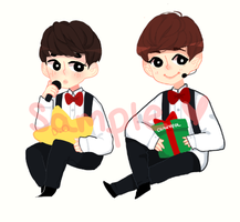 Exo Christmas Sticker Samples by Lolibeat