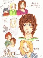 Lord Of The Rings Doodles by MadzSan