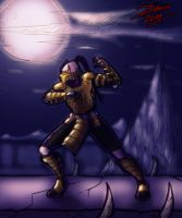 Cyrax in the Pit by TheInsaneDarkOne