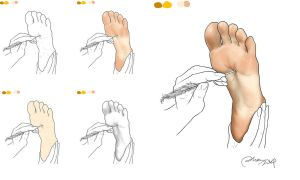 Process of drawing a foot by Alma1129