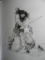 Barbarian Fight by hcollazo2000