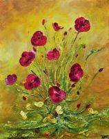 HAPPY  POPPIES by ARTBYTERESA