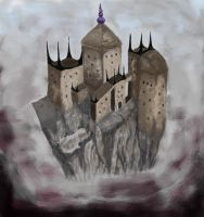 Fantasy castle by Krystal-J