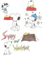 the many phases of snoopy by VampirexPenguin