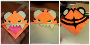 Tiger Bookmark by LilDevilMomoko