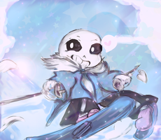 Sans - The skiing star. by Ethtarra