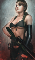 MGSVTPP: Quiet - Colorized by raikoart