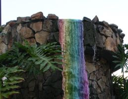 Rainbow waterfall by unique-chic