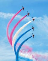 Patriotic -- Red Arrows. by clareanco