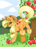 Applejack Bucking by DecibelDisorder3