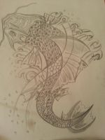 Koi fish sketch  n-2 by flaviudraghis