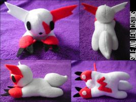 Laying Zangoose Plush by SmileAndLead