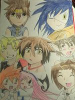 mixed anime coloured by anime-lover64