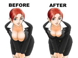 Boob Reduction by LeretiK